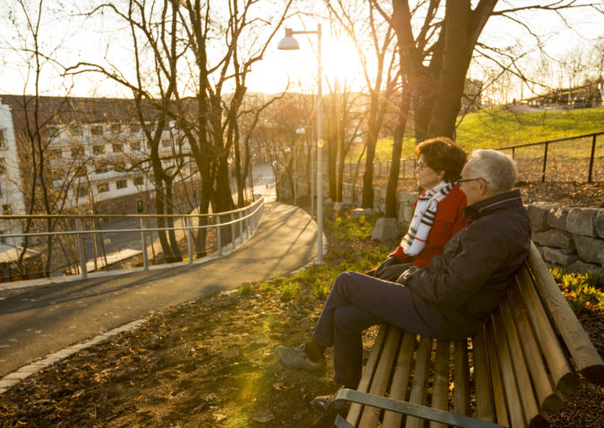 Med kjærlighet for koselige turer! Kjærlighetsstien midt i byen
