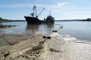 Påfyll av sand på Nordstrand bad