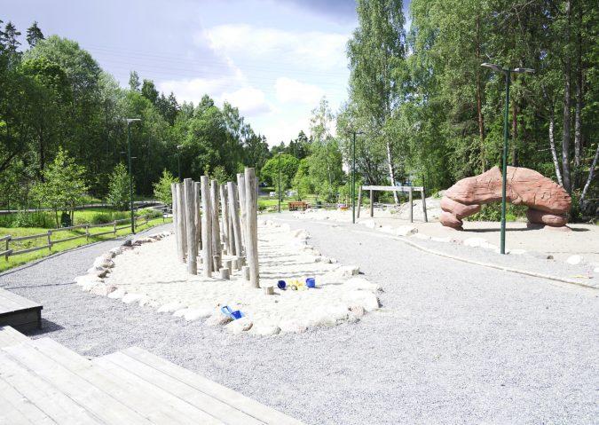 Klatring og lek i Bygger'n aktivitetspark