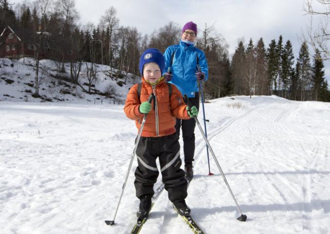 På tur uten glid eller med nysmurte ski til Ullevålseter