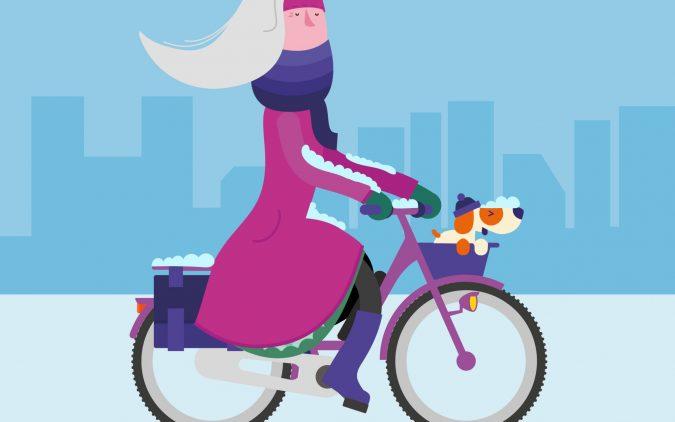 Slik sykler du trygt og behagelig om vinteren