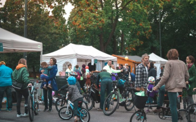 Sykkelaktiviteter i Sofienbergparken